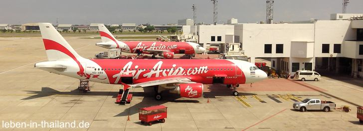 Air Asia Billigflieger in Bangkok
