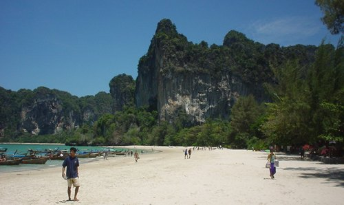 Leben in thailand der railay beach in krabi